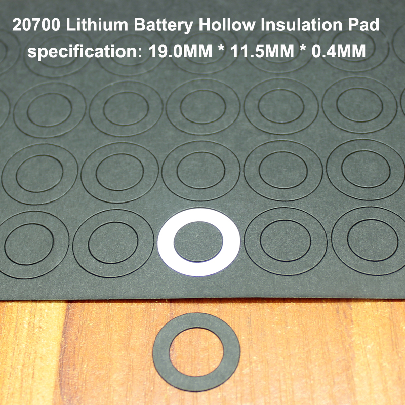 100pcs/lot Lithium Battery High Temperature Gasket Hollow Flat Surface Mat 20700 Battery Insulation Meson 19MM*11.5MM