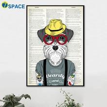 7-Space Kutya Wall Art Vászonfestés Vintage Poszterek és nyomtatványok Pop Art Wall Pictures Living Room Quadro Dekoráció Képek