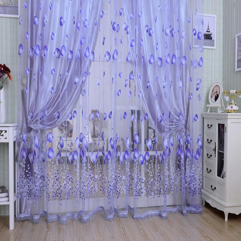 Moderne Tüll Vorhänge Für Wohnzimmer Lila Vorhänge Für Kinder ...