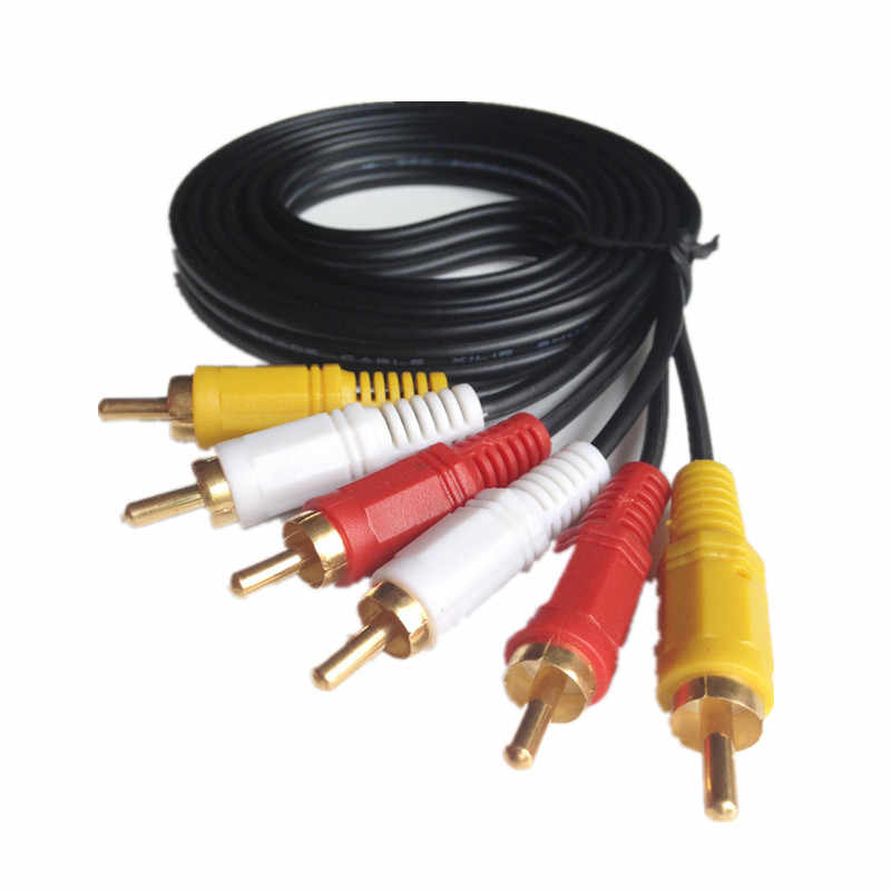 ZUCZUG 3RCA זכר 3 RCA זכר Composite אודיו וידאו AV כבל תקע 3X RCA הקמעונאי & סיטונאי 1.5M 3M 5M 10M 15M 20M 10 FT