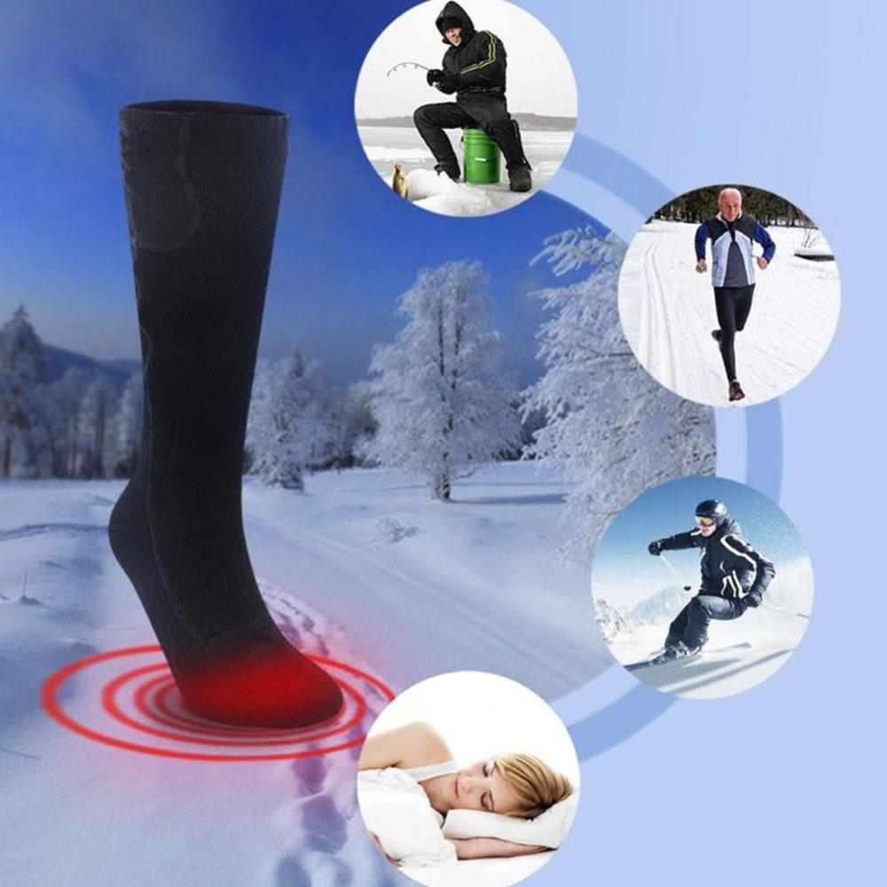 Relefree Stockings Heated Ski Socks Cotton Feet Warmer Heater Battery Heating Socks Safety Warming Protective Gear