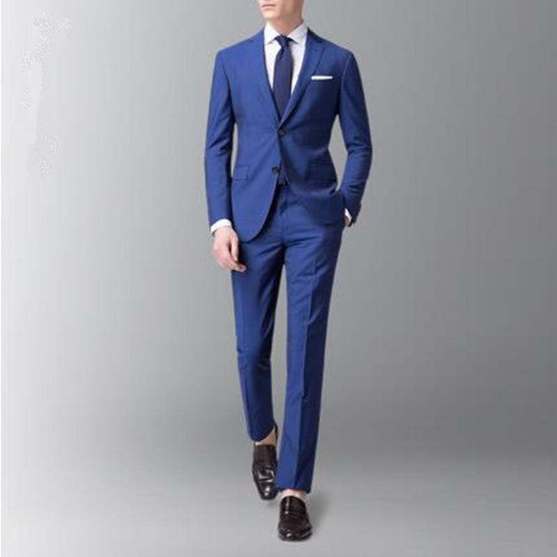 6dde3eaca5 latest design men suits blue wool blended wedding suits tuxedos good  quality groom party prom dress suits(jacket+pants)-in Suits from Men's  Clothing on ...