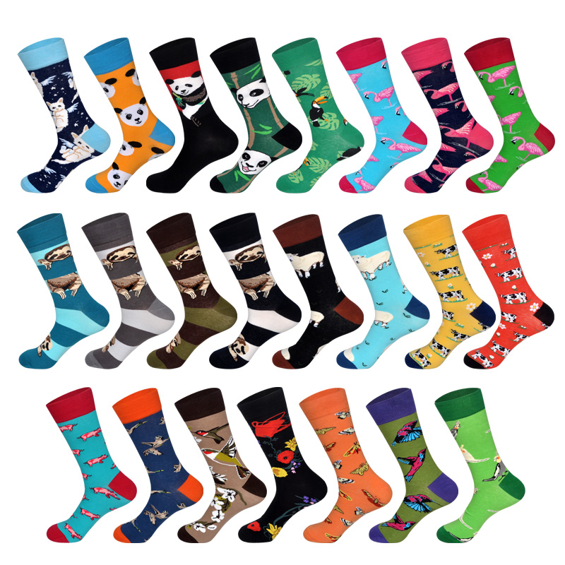 New Arrived 2018 Hot Men Women Happy   Socks   Crazy Animals Design British Style Cotton Long Crew   Socks   Chaussettes Homme Fantaisie