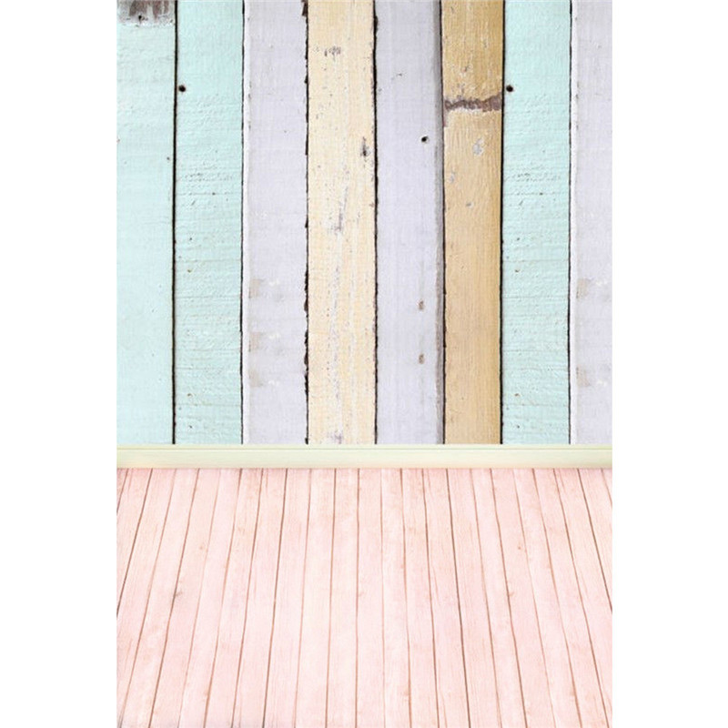 5x10FT Colorful Wooden Planks Wood Floor Custom Photography Backdrops For Studio Photo Props Thin Photographic Background Cloth photo background wooden floor vinyl photo props for studio flowers photography backdrops small fresh 5x7ft or 3x5ft jieqx060