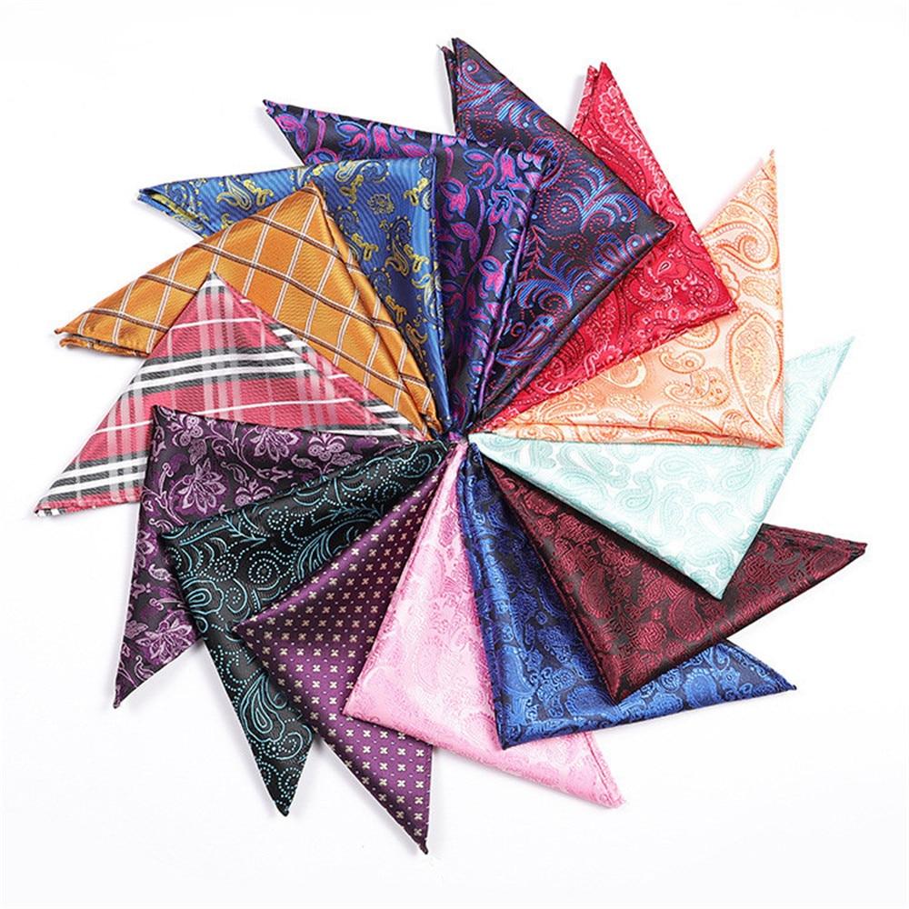 CityRaider Brand Design Novelty Paisley Floral Pirnt Handkerchiefs For Men Silk Pocket Square Wholesale VIP Link 25*25cm A064