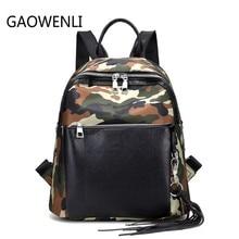 Gaowenli камуфляж сплайсинг многофункциональный моды Mochila Школьные сумки для Для женщин известных брендов backpak для подростков Обувь для девочек