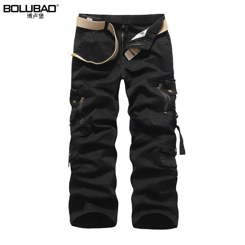 2017 New Arrival Brand-Clothing Mens Cargo Pants Fashion Solid Color Military Men Pants Quality Cotton Casual Pants Men ...