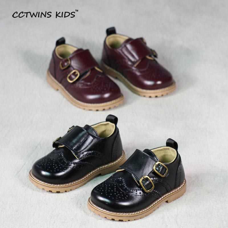 CCTWINS Kids Schoenen lente herfst kind roze platte lederen peuter mode schoen baby meisje merk loafer oxford wit G973