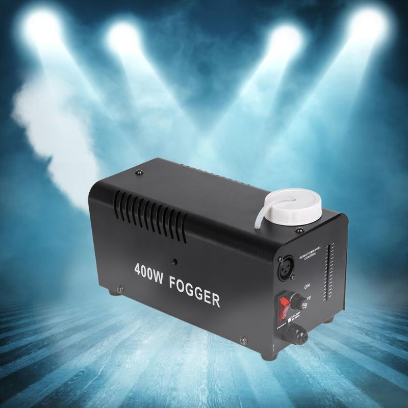 1* Power Adapter 1* 400W Fogger Remote DJ Disco Party Smoke Mist Fog Effect Mountable Machine Halloween LED Colorful Fog Machine