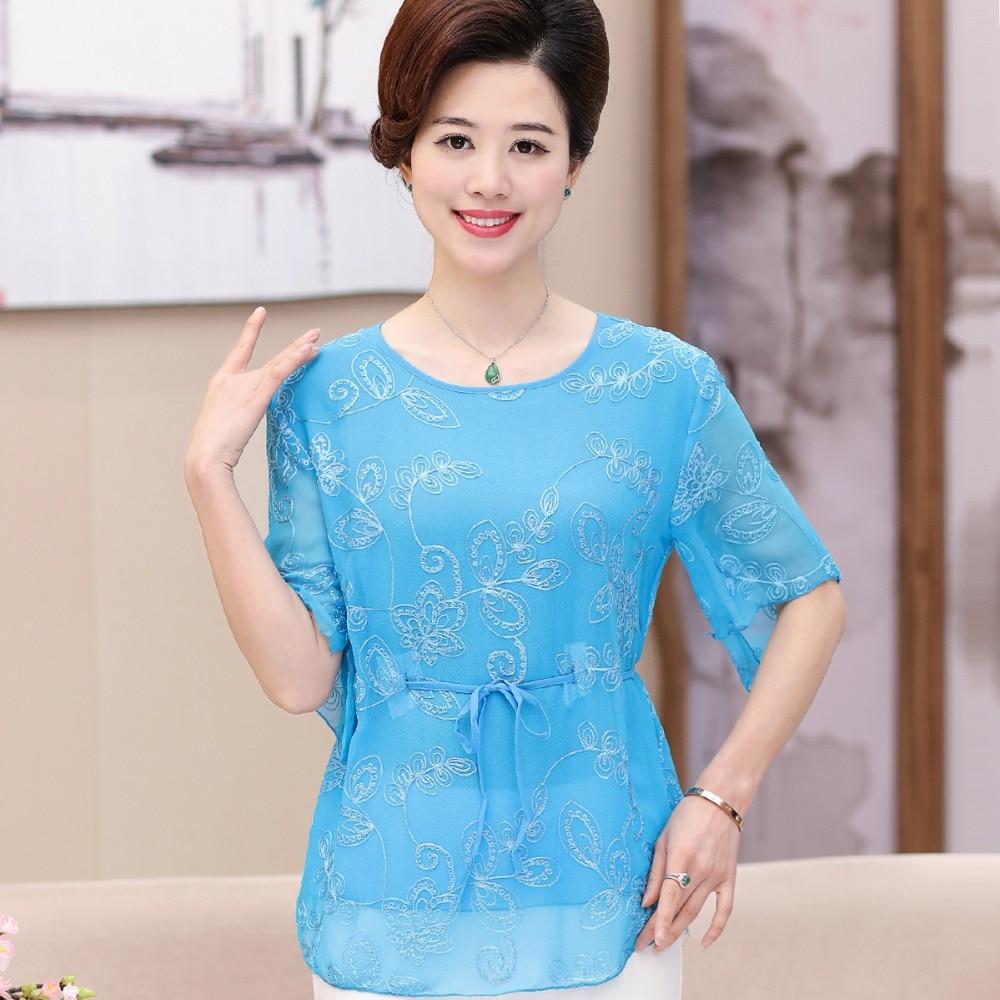 2017 new design summer & spring women silk blouses fashion ...