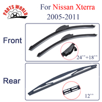 Group Silicone Rubber Front And Rear Wiper Blades For Nissan Xterra 2005 2011 Windscreen Wipers Car