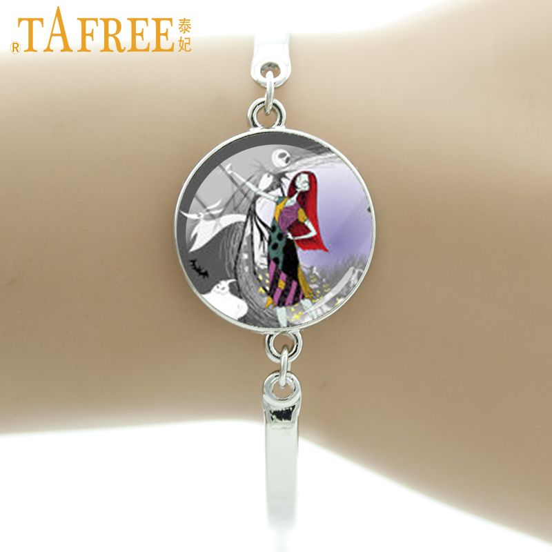 TAFREE Romantic fashion women jewelry Skeleton Jack Miss Sally Dancing bracelets case for Nightmare Before Christmas gift HH137