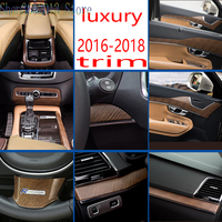 For Volvo XC90 2016-2019 ABS Peach wood Internal trim cover Decorative stickers Kit Car Styling Accessories 10pcs