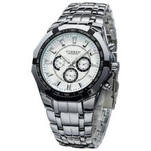 2016 CURREN Top Brand Hombres de Lujo Del Deporte Del Cuarzo Reloj Militar Relojes de pulsera de Acero Completo Relojes de Los Hombres del relogio masculino 8084