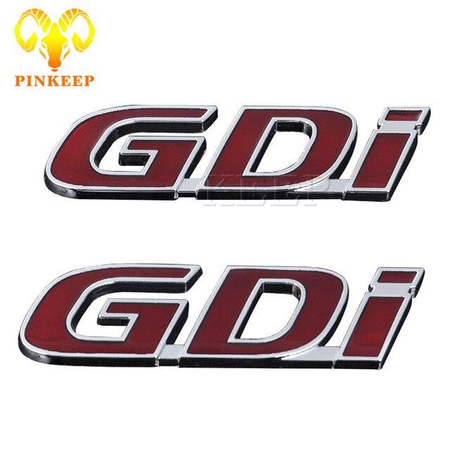 3d Metalen Auto Logo Sticker Badge Emblem Decal Voor Hyundai Gdi