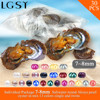 Free Shipping Via UPS 30pcs Mixed 13 Colors Single And Twins Pearls Oysters 7 8mm Saltwater