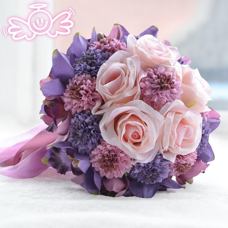 preciosas flores broche ramo de la boda ramo de flores artificiales de la boda nupcial de