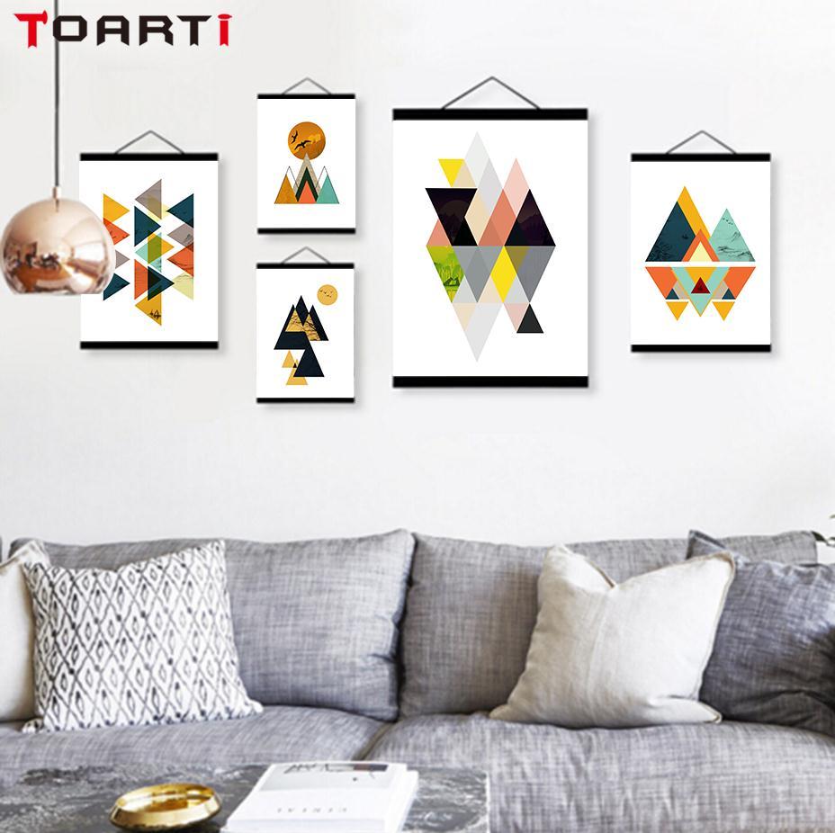 N-rdico-moderno-Abstrato-Textura-Geom-trica-Forma-Grande-Cartaz-Arte-Da-Parede-Lona-Impress-o