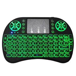 Image 3 - I8 Mini 2,4G Wireless Tastatur Touchpad Farbe Hintergrundbeleuchtung Air Mouse Russische Spanisch Arabisch Für Android TV Box Xbox Smart TV PC HTPC