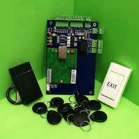 Tcp/ipワンドアrfidアクセス制御システムシングルドアアクセスパネルlanインタフェースアクセスコントローラ+ rfidリーダ+ eixtボタン