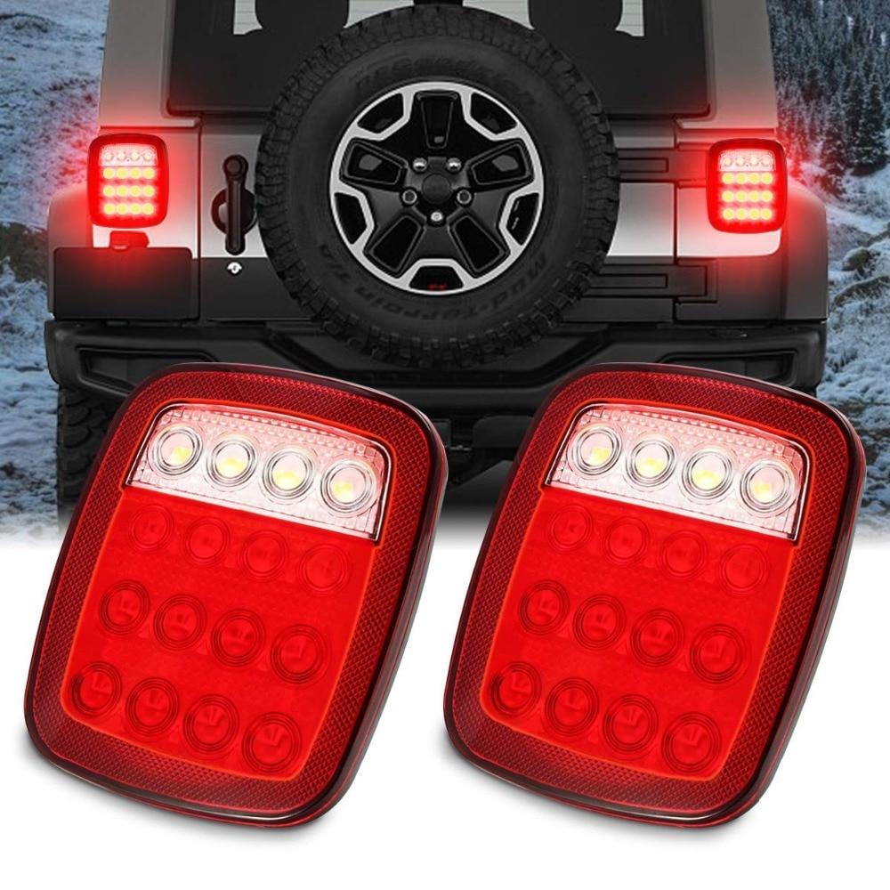 Led Trailer Tail Lights Brake Turn Signal Reverse Running