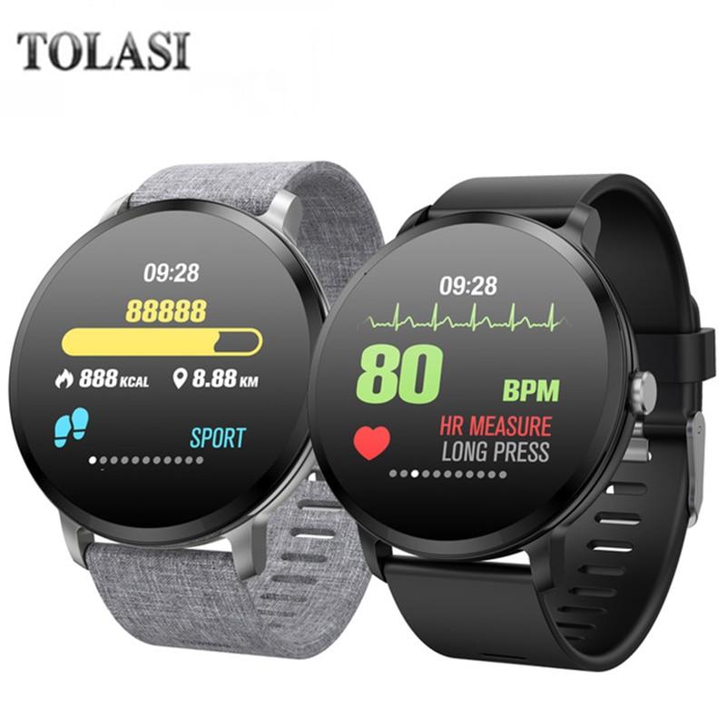 V11 Smartwatch Men Women Weather Music Control HR Blood Pressure Oxygen Training Brightness Smart Watch Bracelet
