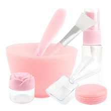 7 pcs/set DIY Face Mask Bowl Set Makeup Beauty Brush Spoon Stick Bowl Spray Professional Makeup Tool Mixed Stick Measuring Cup
