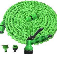 3X растягивающаяся Волшебная труба высокого давления для полива и полива автомобиля-водяной пистолет+ шланг+ 2х коннектор для шланга A0100