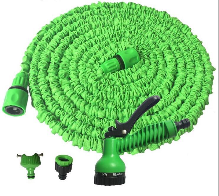 3X Stretch Magic Pipe High Pressure Car Garden Irrigation Watering Kits - Water Gun + Hose + 2x Hose Connector A0100