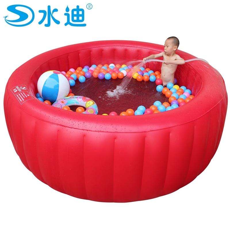 grande rosso rotondo piscina con pompa per bambini famiglia adulto bambino vasca da bagno portatile vasca