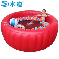 Large red round Swimming Pool with pump children tub Portable Inflatable family adult kid Bath Tub 200cm x 80cm