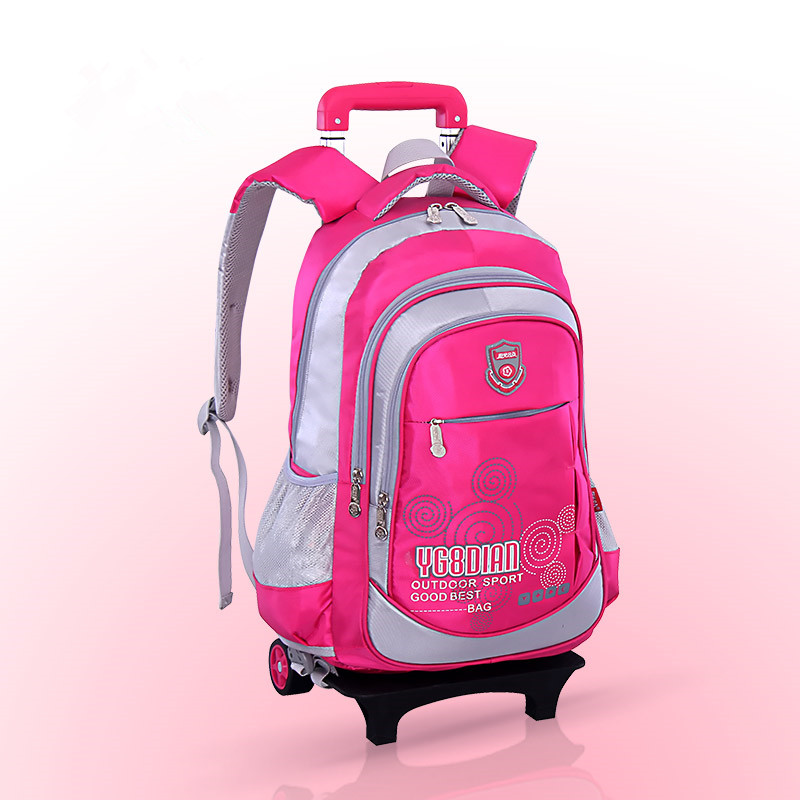Belify Meetbelify Rolling Backpacks For Girls School Bags Trolley Handbag With Lunch Bag Six Wheels Red. Description.