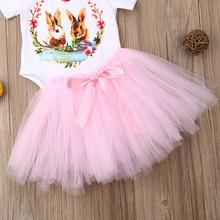 Easter Baby Girl Rabbit Romper Tutu Dress Set