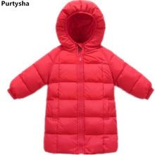 Здесь можно купить   Girls Winter Coats 2017 Frivolity Children Down Jacket Hooded Teenagers Parka Boy White Duck Down Winter Clothes Kids Long Coat Children
