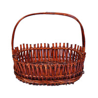 Creative Wicker Fruit Portable Storage Basket Organizer And Multi Function Modern Home Supermarket Shopping Storage Basket