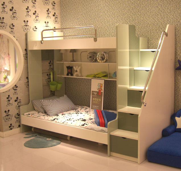 Cartoon series of children's furniture bedroom cabin bunk bed picture bed  bed bunk bed C18T8