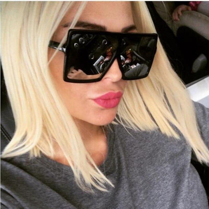 REALSTAR New 2018 Fashion Oversized Shades Sunglasses Men Women Brand Designer Sun Glasses Men Vintage Square UV400 Oculos S139