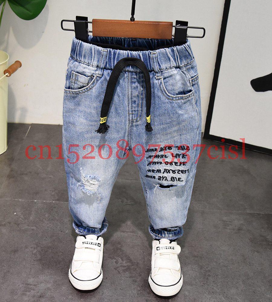 IENENS Kids Baby Boy Denim Clothing Trousers Boys Casual Jeans Long Pants 2-6 Y