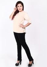 2017 зимняя Осенняя мода бренд большие размеры джинсы синего цвета повседневные джинсы женские Карандаш Жан брюки L-5XL Большие размеры wiccon(China)