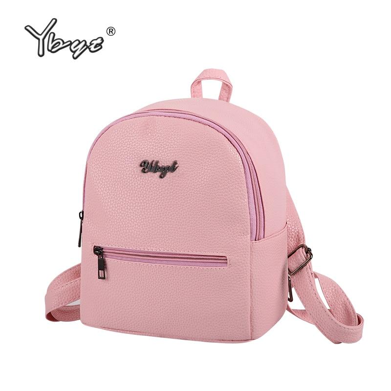 Ybyt бренд 2018 Новый из мягкой искусственной кожи Женские повседневные небольшой пакет консервативный стиль для девочек рюкзаки женские сумки женские рюкзаки