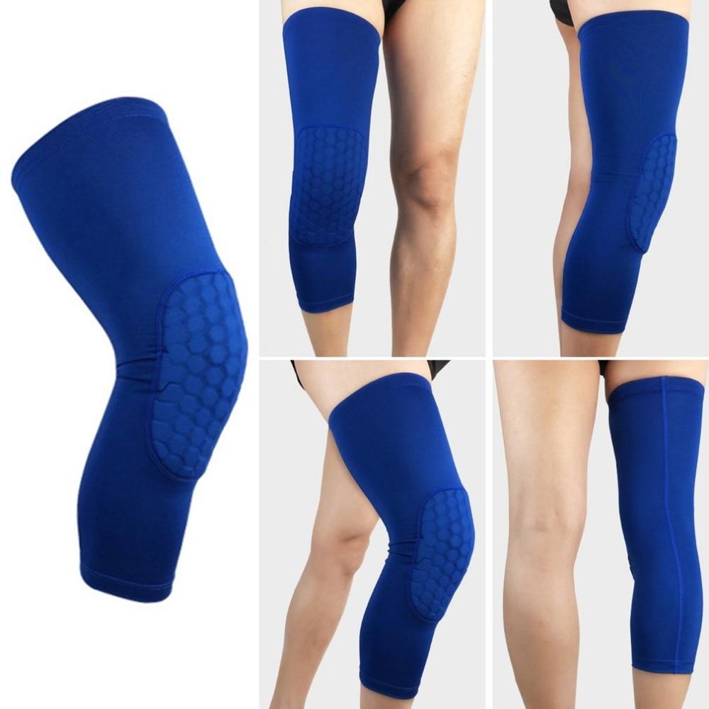 TSAI 1 piece High Elastic Breathable Long Sleeve Knee Pad Sport Basketball Knee Warm Support Brace Leg Arthritis Injury Gym