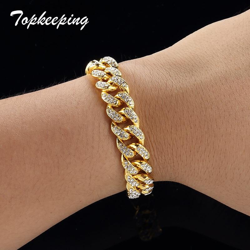Men Luxury Rhinestone Fashion Bracelets Unisex High Quality