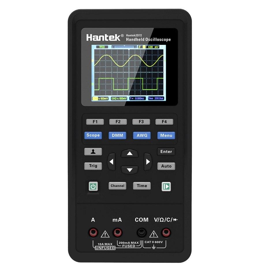 Hantek 3in1 2D72 250MSa S Digital Oscilloscope Waveform Generator Multimeter USB Portable 2 Channel 40mhz 70mhz