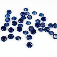 2016 Mới Đến Sapphire Màu Cubic Zirconia Stones Thiết Kế Hình Tròn Hạt Làm Đẹp Móng Tay Móng Tay 3D Art DIY Trang Trí 4-18 mét