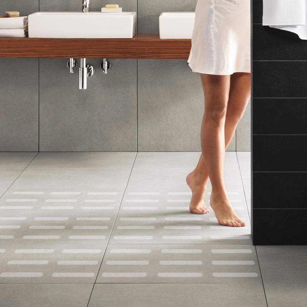 12 Pcs/set Bulat Putih Karet Lembut PEVA Tahan Air Transparan Anti-Slip Stiker Kamar Mandi Shower Anti-Slip Pad Rumah perlengkapan