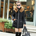High Quality Winter women jacket coat cotton padded hooded down coat slim snow outwear down jacket Female Warm Clothes overwear
