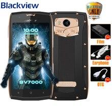 """Blackview BV7000 Mobile Téléphone MT6737T Quad Core 5.0 """"FHD 2G + 16G IP68 Étanche Glonass NFC Antipoussière 4G D'empreintes Digitales Smartphone"""