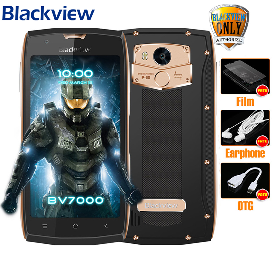 Blackview <font><b>BV7000</b></font> Mobile Phone MT6737T Quad Core 5.0&#8243; FHD 2G+16G <font><b>IP68</b></font> Waterproof Glonass NFC Dustproof 4G Fingerprint <font><b>Smartphone</b></font>