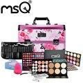 Envío libre msq profesional kit de cosméticos de maquillaje fijó estilo chino Compone la Caja Cuidado Facial Maquillaje Cepillo Conjunto Cosmético Para belleza