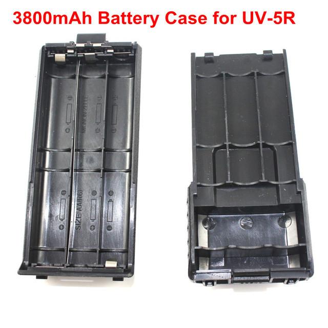 Nouvelle Arrivée Batterie pour BaoFeng UV-5R TYT TH-F8 Même taille comme 3800 mAh Support de Batterie 6 AA Batterie (Batterie non incluse)